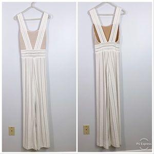 Nightcap clothing white nude stretchy jumpsuit XS